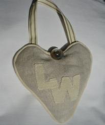 monogrammed lavender love heart