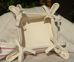 European style cotton bread basket