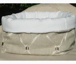 soft padded linen fabric basket