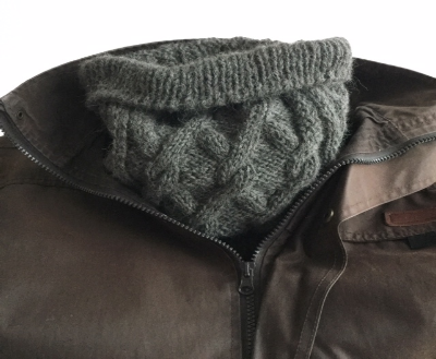Alpaca neck warmer dark grey